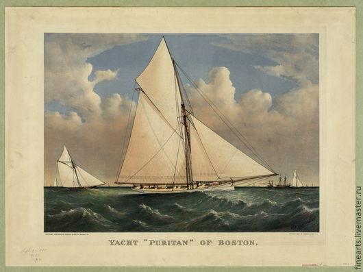 Редкие ,высококлассные литографии старинных яхт великолепный вариант оформить интерьер стильно и очень изысканно!