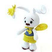"""Куклы и игрушки ручной работы. Ярмарка Мастеров - ручная работа Заяц вязаный (вязаные зайцы/зайчики) """"Солнечный зайчик"""". Handmade."""