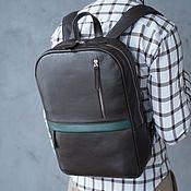 """Мужская сумка ручной работы. Ярмарка Мастеров - ручная работа Рюкзак кожаный мужской """"Tayler"""" (Комбинированный). Handmade."""
