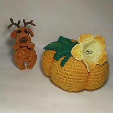 Куклы и игрушки ручной работы. Ярмарка Мастеров - ручная работа Игрушки: Тыква. Handmade.