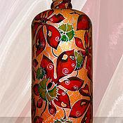 Посуда ручной работы. Ярмарка Мастеров - ручная работа Бутылка Каштаны, роспись по керамике. Handmade.