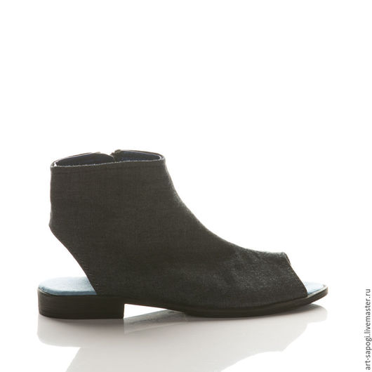 Обувь ручной работы. Ярмарка Мастеров - ручная работа. Купить Открытые летние ботинки 11-325 (ВЧ). Handmade. Мода