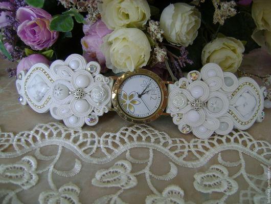 """Часы ручной работы. Ярмарка Мастеров - ручная работа. Купить Часы (браслет) ручной работы """"Афродита"""". Handmade. Белый"""