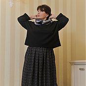 Одежда handmade. Livemaster - original item Jumper black marLED polyester. Handmade.