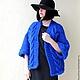 """Верхняя одежда ручной работы. Ярмарка Мастеров - ручная работа. Купить Пальто-накидка """"Royal Blue"""". Handmade. Тёмно-синий"""