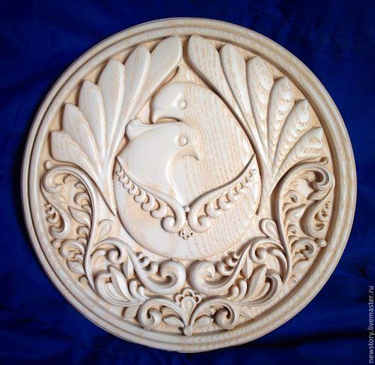 """Животные ручной работы. Ярмарка Мастеров - ручная работа. Купить """"Голубь и Горлица"""". Handmade. Панно, ясень, свадебный образ"""