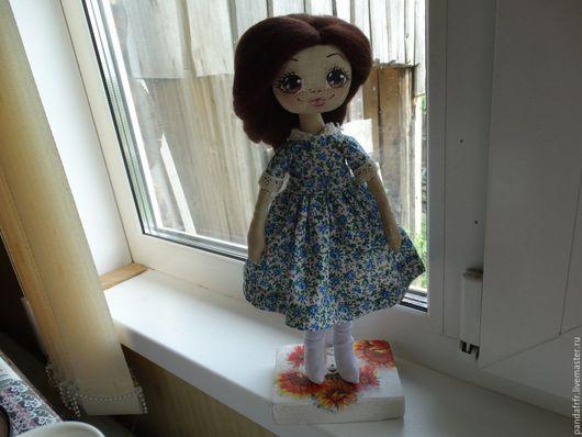 Коллекционные куклы ручной работы. Ярмарка Мастеров - ручная работа. Купить Куколка Гузель. Handmade. Синий, кукла в подарок, двунитка