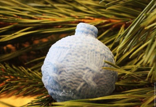Новогодний  мыльный шарик. Подарки и сувениры ручной работы.Новый год.Edenicsoap.