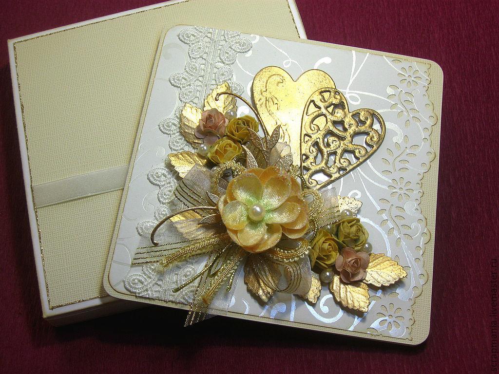 Открытка девочке, скрап открытка свадьба золотая