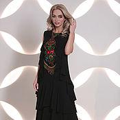 Одежда handmade. Livemaster - original item Dresses:black dress with flounces Boho-chic. Handmade.
