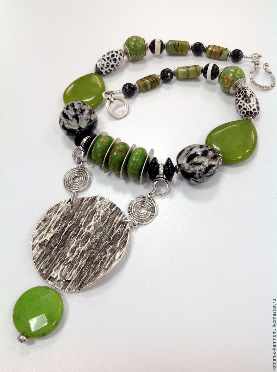 Necklaces, ethnic beads made from natural materials Limpopo. An original gift for a stylish, extraordinary women and girls.