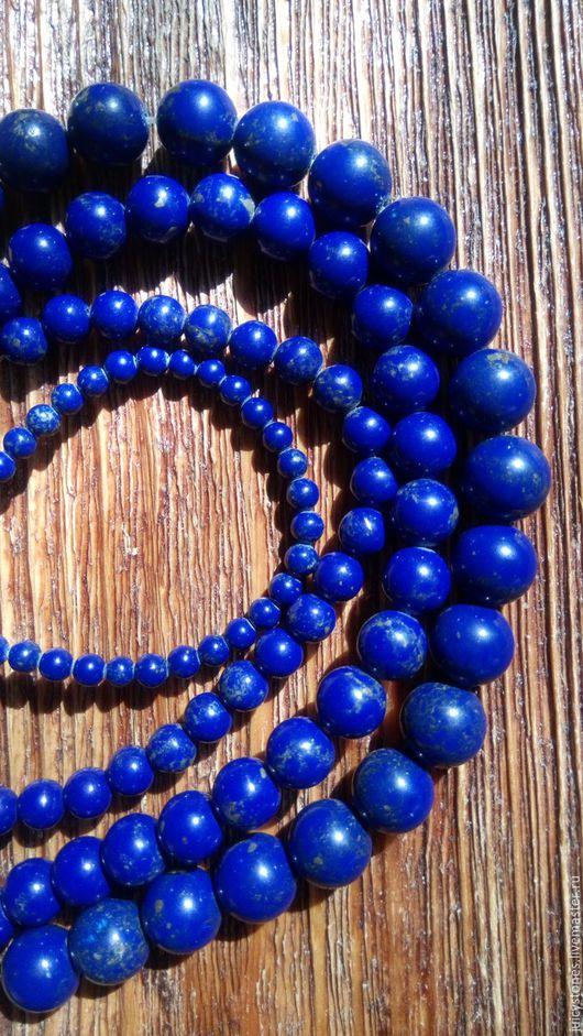 Для украшений ручной работы. Ярмарка Мастеров - ручная работа. Купить Бусины из натуральных камней  10 мм темно-синие. Handmade.
