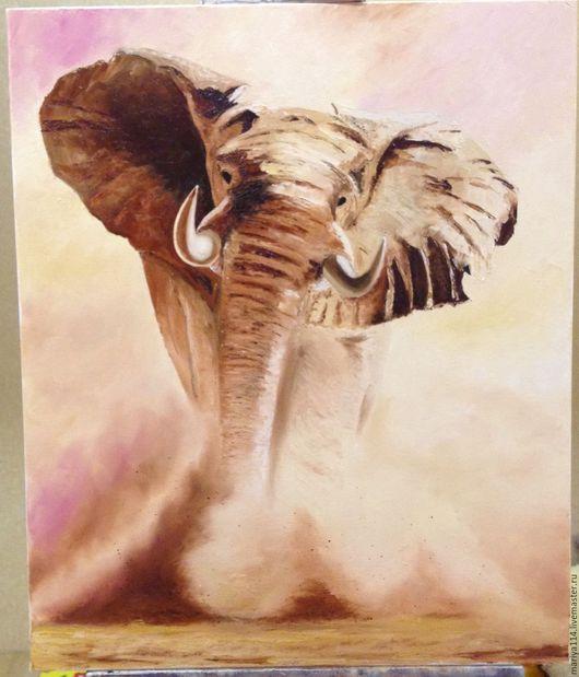 Животные ручной работы. Ярмарка Мастеров - ручная работа. Купить слон. Handmade. Слон, масло, масло