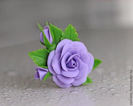 """Кольца ручной работы. Ярмарка Мастеров - ручная работа. Купить """"Розы"""" кольцо. Handmade. Сиреневый, роза, подарок девушке"""