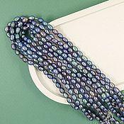 Материалы для творчества handmade. Livemaster - original item 10 PCs. Pearls of nature. figure approx. 4 mm (thickness) AA dark (4851). Handmade.
