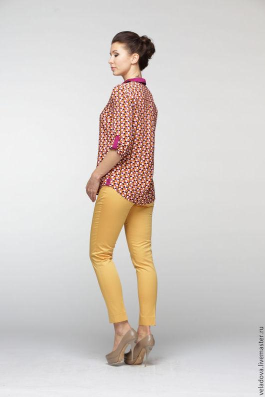 """Брюки, шорты ручной работы. Ярмарка Мастеров - ручная работа. Купить Брюки женские """"Люмино"""". Handmade. Желтый, горчичные брюки"""