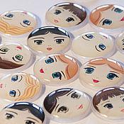 Материалы для творчества handmade. Livemaster - original item The cabochon is handmade.Face for brooch 18 mm. Handmade.
