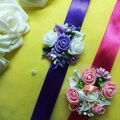 Браслеты ручной работы. Ярмарка Мастеров - ручная работа Браслет украшение на руку для девичника, свадьбы, выпускного. Handmade.