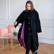 Одежда handmade. Livemaster - original item Coat made of Italian wool black fine boucle. Handmade.