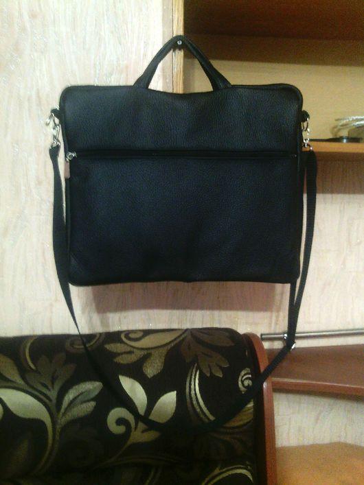 Мужские сумки ручной работы. Ярмарка Мастеров - ручная работа. Купить Модель 53 мужская сумка. Handmade. Черный цвет