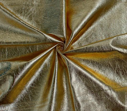 """Шитье ручной работы. Ярмарка Мастеров - ручная работа. Купить Натуральная кожа """"Золотой Металлик""""!. Handmade. Кожа, кожа в кусках"""