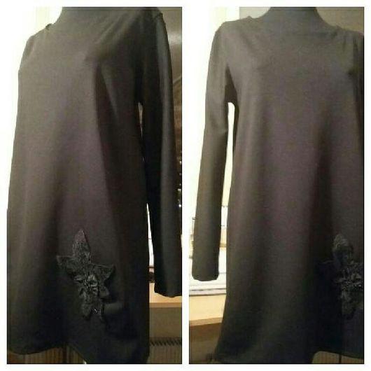 Платья ручной работы. Ярмарка Мастеров - ручная работа. Купить Черное платье из итальянского трикотажа Etro. Handmade. Платье