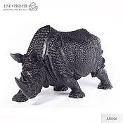 Для дома и интерьера handmade. Livemaster - original item Rhino protector the guardian of the Obsidian gift to the head on February 23. Handmade.
