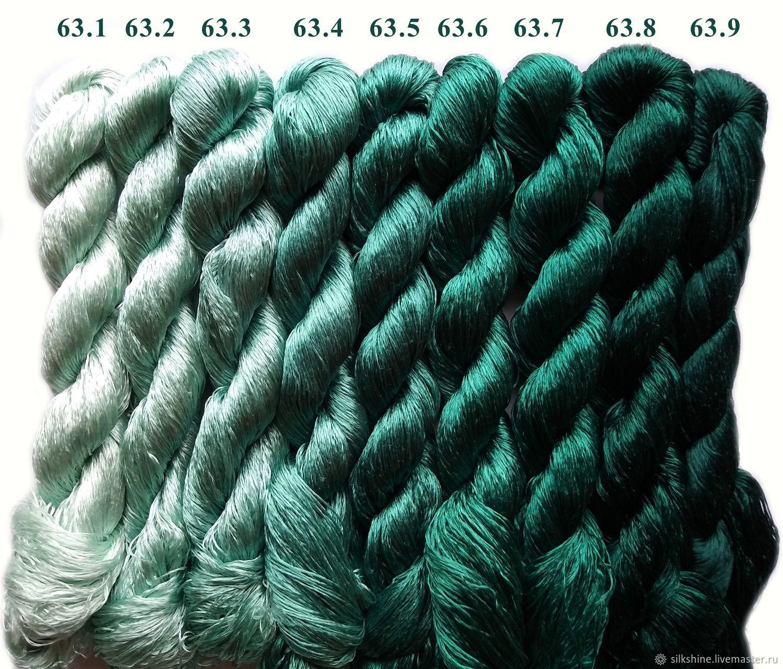 Шелковые нитки для вышивки, 100% шелк, Нитки, Москва,  Фото №1