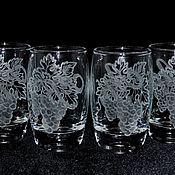 Посуда handmade. Livemaster - original item Grapes. Set of wine glasses. Handmade.
