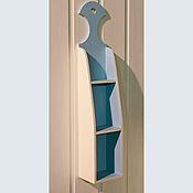 Для дома и интерьера ручной работы. Ярмарка Мастеров - ручная работа Комплект из трех бело-голубых полочек. Handmade.