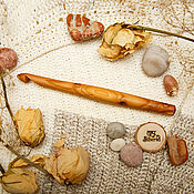 handmade. Livemaster - original item Wooden crochet Hook 11#56. Handmade.