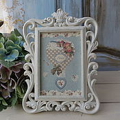 Сувениры и подарки handmade. Livemaster - original item Photo frame decoupage
