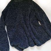 Одежда handmade. Livemaster - original item Fashionable calmer sweater, dark denim color, with a light melange.. Handmade.