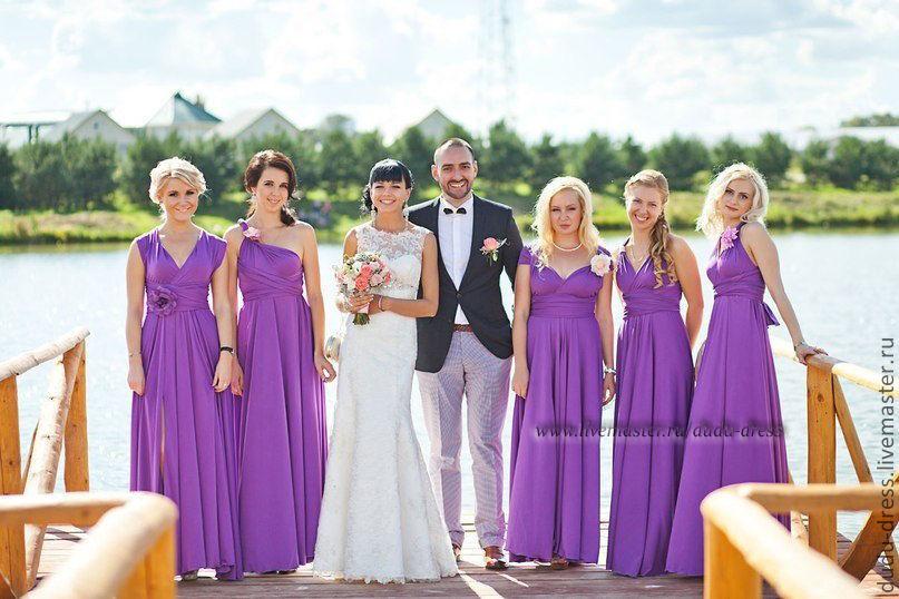 Фиолетовое платье подружки невесты