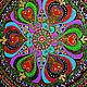 Этно ручной работы. картина на стекле мандала Счастливая. Юлия-Yulitaya. Интернет-магазин Ярмарка Мастеров. Мандала, картина на стекле