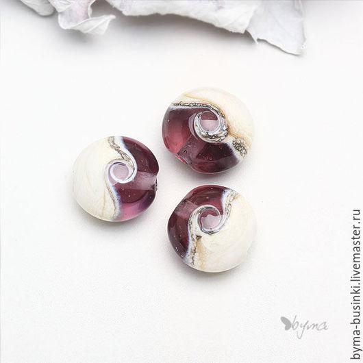 стеклянные бусины лэмпворк для украшений розовые купить
