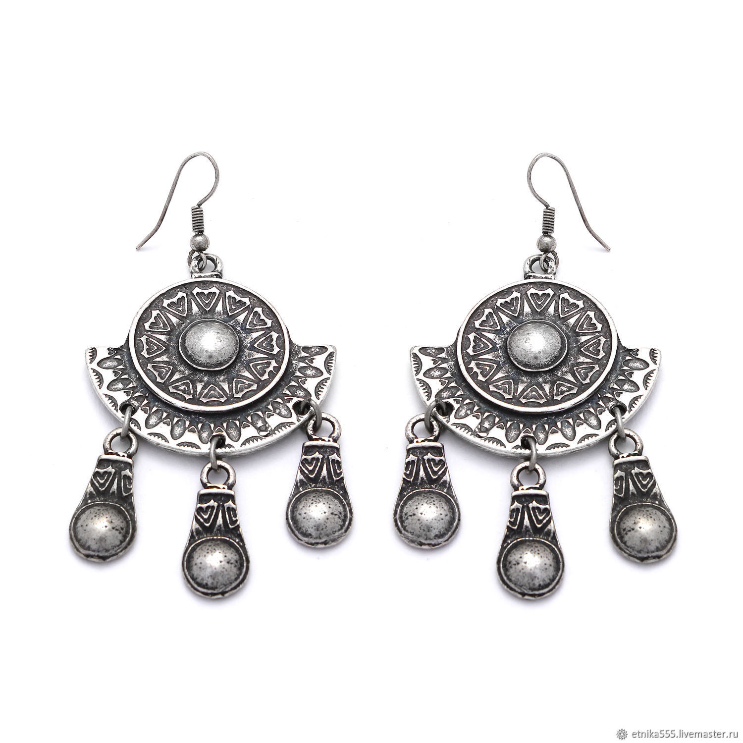 eaaed7ff5 Earrings ELA (advanced) in Oriental style – shop online on Livemaster ...