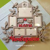 Сувениры и подарки handmade. Livemaster - original item Family photo frame with name. Handmade.