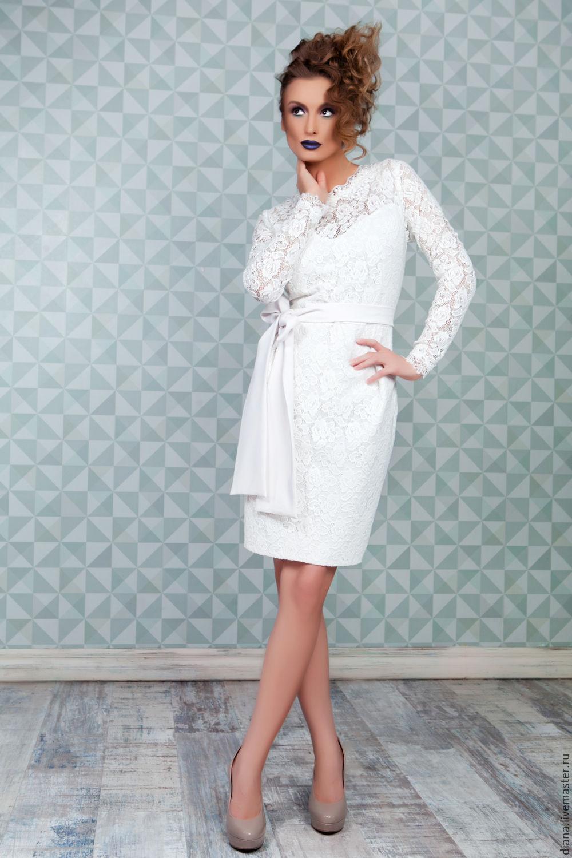 Белое кружевное платье доставка