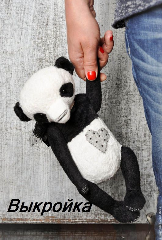Мишки Тедди ручной работы. Ярмарка Мастеров - ручная работа. Купить Выкройка_Пандочка Lace love..., black. Handmade. Черный