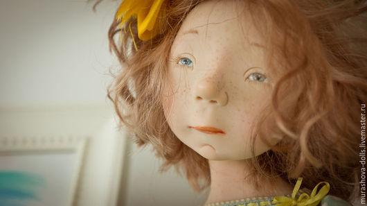 Коллекционные куклы ручной работы. Ярмарка Мастеров - ручная работа. Купить Мятный горошек. Handmade. Мятный, living doll