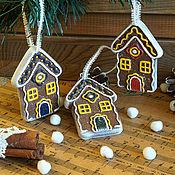 """Подарки к праздникам ручной работы. Ярмарка Мастеров - ручная работа Елочная игрушка """"Пряничный домик.."""". Handmade."""