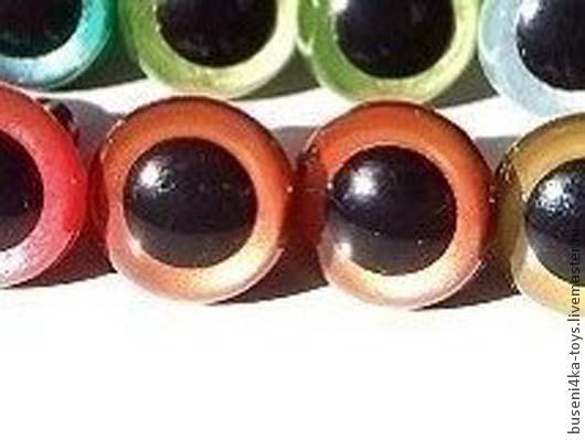 """Куклы и игрушки ручной работы. Ярмарка Мастеров - ручная работа. Купить 12мм Глаза для игрушек (рыжие) 2шт. """"3429"""". Handmade."""