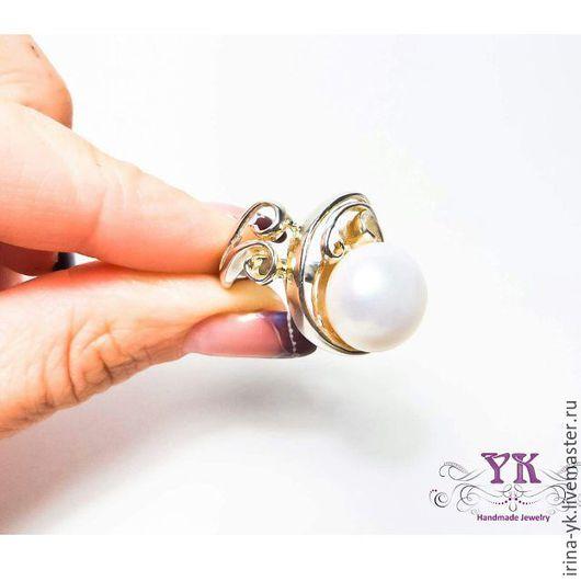 Кольца ручной работы. Ярмарка Мастеров - ручная работа. Купить Нежное кольцо из серебра и речного жемчуга. Handmade. нежное кольцо