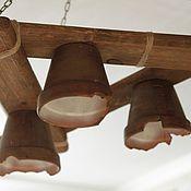 """Для дома и интерьера ручной работы. Ярмарка Мастеров - ручная работа люстра из дерева """"кантри"""". Handmade."""