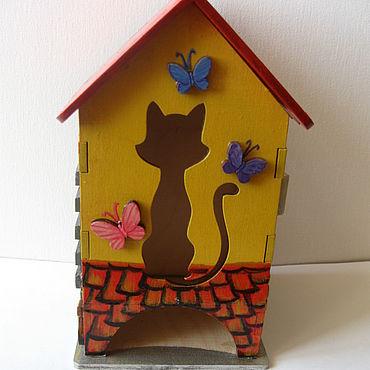 """Для дома и интерьера ручной работы. Ярмарка Мастеров - ручная работа Чайный домик """"Кошкин дом"""". Handmade."""