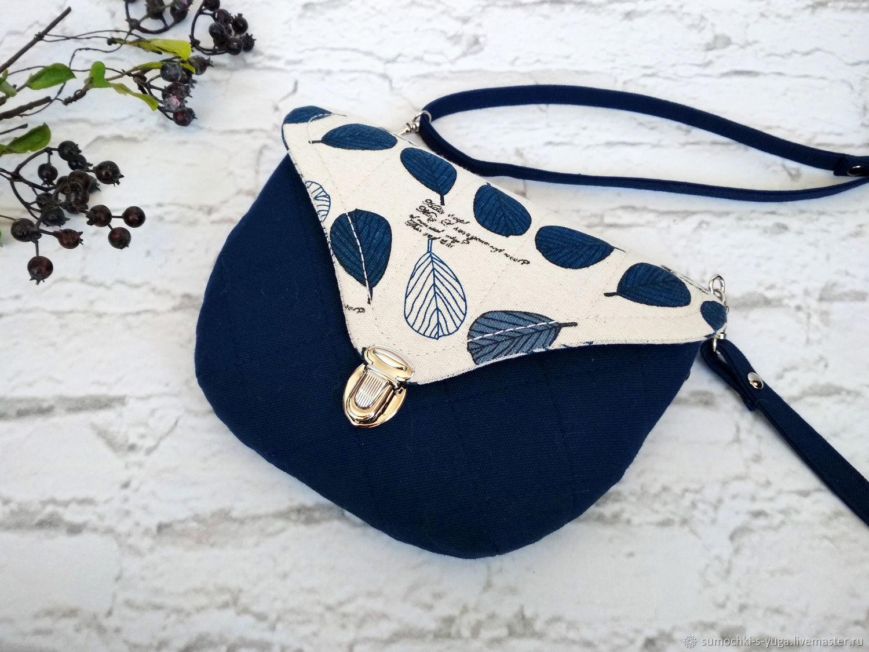 Женские сумки ручной работы. Заказать Сумочка текстильная Синий листопад. 4a12421519b