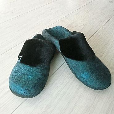 Footwear handmade. Livemaster - original item Felted women`s Slippers.. Handmade.