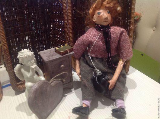 Коллекционные куклы ручной работы. Ярмарка Мастеров - ручная работа. Купить Полина. Handmade. Бледно-розовый, забавная игрушка