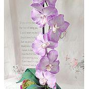 """Цветы и флористика ручной работы. Ярмарка Мастеров - ручная работа Интерьерная композиция из фоамирана """"Орхидея"""" (фаленопсис). Handmade."""